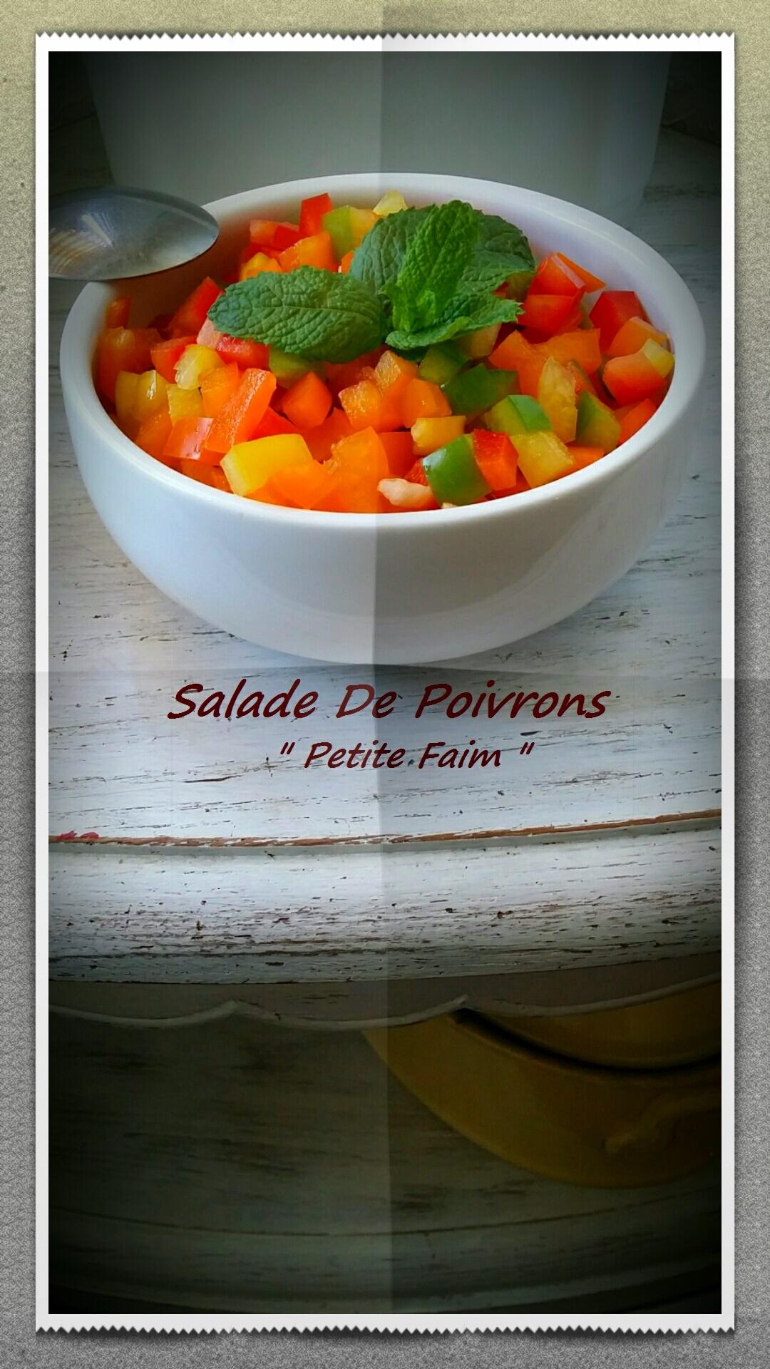 Salade de poivrons une petite faim - Salade de poivron grille ...
