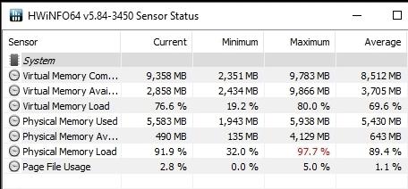 HWINFO R3 2200G OC RAM 3000