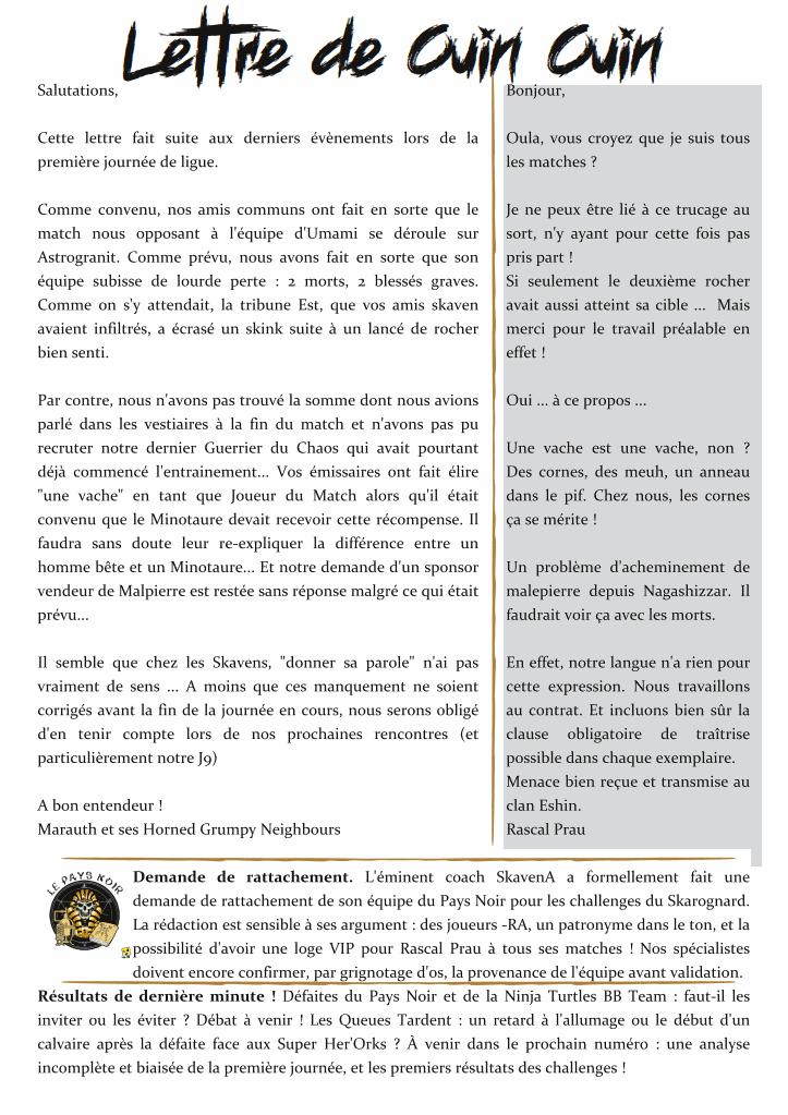 Le Skarognard, journal officiel des Clans ! 13b7864616867f1d41048f6af65e757a