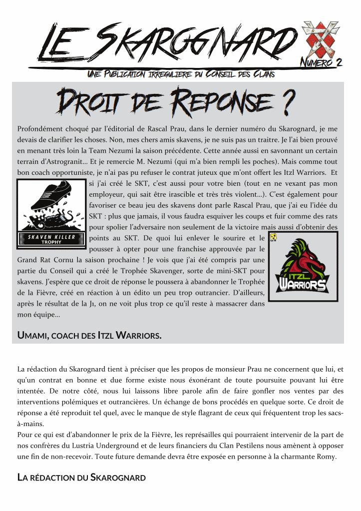 Le Skarognard, journal officiel des Clans ! Dc5bc67d3bc79fae46f9643f0942f5ac
