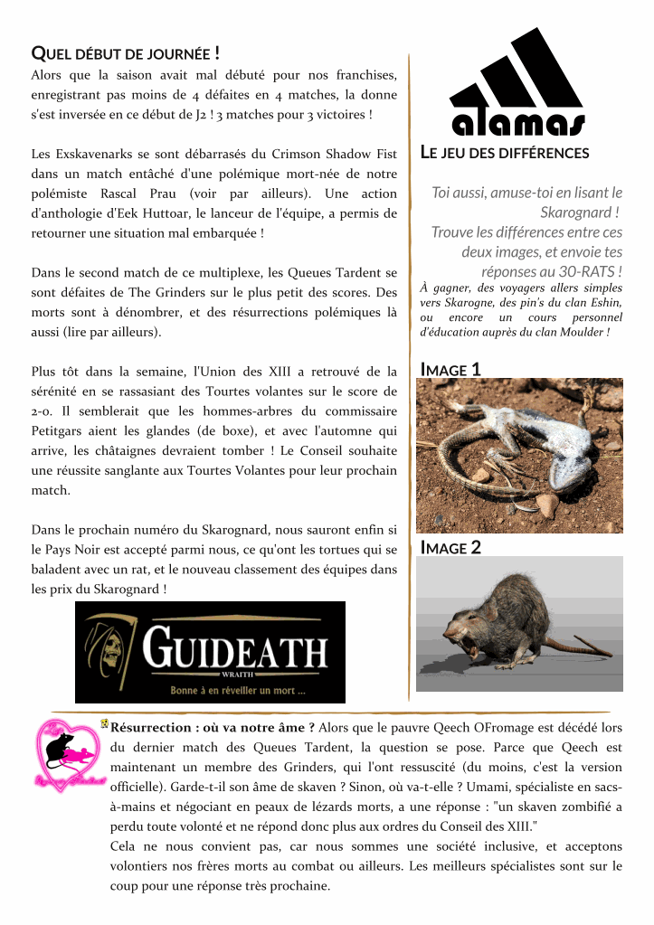 Le Skarognard, journal officiel des Clans ! - Page 2 06cfed33e9e97bb83a244905a691f534