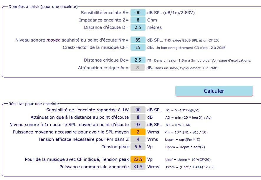 Calculateur en ligne du dimensionnement d'un ampli Fedecdceb767df3b2a779558bf8525c3